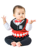 Baby raise up hand Royalty Free Stock Photo
