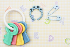 Baby Rattle Stock Photos