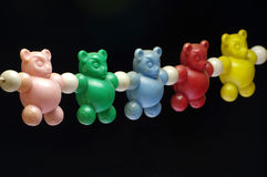 Baby rattle bears toy old Royalty Free Stock Photo