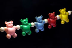 Baby rattle bears toy old 2 Stock Photos
