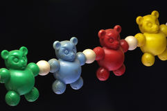 Baby rattle bears toy old 3 Royalty Free Stock Images