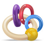 Baby Rattle Rings Stock Photo