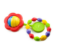 Baby Rattle And Teething Ring Stock Images