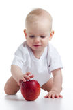 Baby reaches for an apple Royalty Free Stock Photography