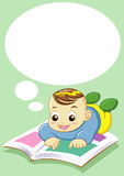 Baby reading Stock Photo