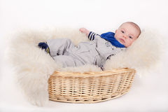 Baby on white background Stock Images