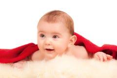 happy little boy on blanket Royalty Free Stock Image