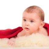 happy little boy on blanket Royalty Free Stock Photos