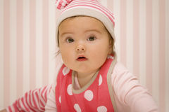 Baby in red Stock Image