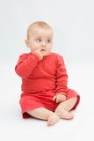 Baby in red Royalty Free Stock Photography
