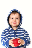 Baby with red apple Stock Photography