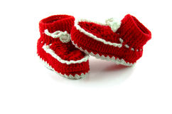 Baby red boots Royalty Free Stock Image