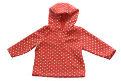 Baby red fleece jacket Royalty Free Stock Photography