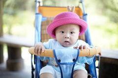 Baby in red hat Royalty Free Stock Photo