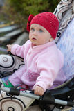 Baby in a red hat Stock Photography