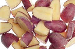 Baby Red Potato Slices Background Stock Photography