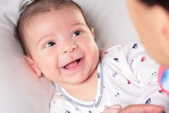 Baby rejoices Stock Image