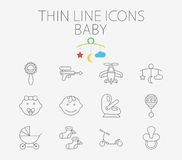 Baby related flat vector icon set Royalty Free Stock Images
