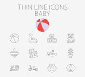 Baby related flat vector icon set Stock Image
