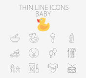 Baby related flat vector icon set Royalty Free Stock Photography