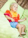 Baby relaxing Royalty Free Stock Images