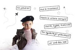 Baby revolution three years negativism crisis concept Che Guevara cosplay