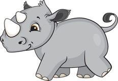 Baby Rhino Cartoon. A cute cartoon baby rhino from Africa Royalty Free Stock Photo