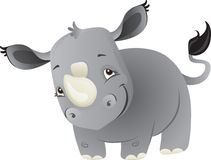 Baby rhino. A cute cartoon baby rhino from Africa royalty free illustration
