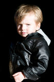 Baby rocker. Portrait of baby rocker with leather jacket Stock Photos