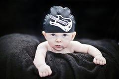 Baby rockstar Stock Photo