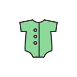 Baby romper filled outline icon, line vector sign, linear colorful pictogram. Royalty Free Stock Photography
