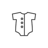 Baby romper line icon, outline vector sign, linear style pictogram isolated on white. Stock Photo