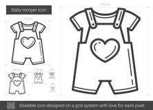 Baby romper line icon. Royalty Free Stock Photo