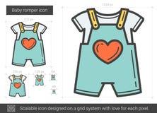 Baby romper line icon. Stock Photography