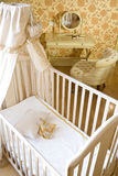 Baby room. With crib and toys Royalty Free Stock Image