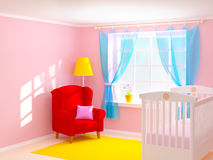 Baby room with armchair Royalty Free Stock Image