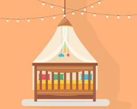 Baby room with bed Stock Photography