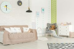 Baby room with cactus wallpaper Stock Photography