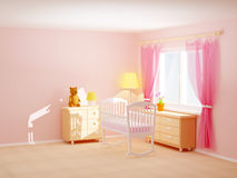 Baby room cradle Stock Photo