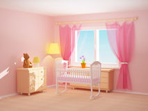 Baby room cradle Stock Photography