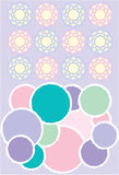 Baby room elements. Baby room design elements in pastel colors Vector Illustration
