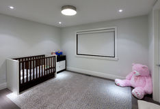 Baby room. Empty baby room in new luxury house Royalty Free Stock Image