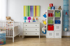 Baby room full of colours Royalty Free Stock Image