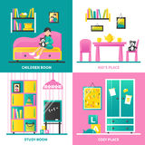 Baby Room Furniture 2x2 Design Concept Royalty Free Stock Photo