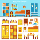 Baby Room Furniture Infographics Royalty Free Stock Photo