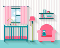 Baby room with furniture Stock Photography