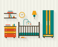 Baby room with furniture Royalty Free Stock Image