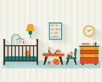Baby room with furniture royalty free illustration