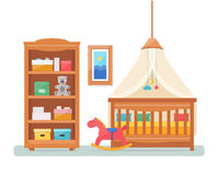 Baby room with furniture. Royalty Free Stock Photography