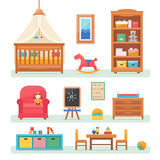 Baby room with furniture. Royalty Free Stock Images